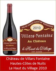 VillarsFontaine - Hautes-Côtes-de-Nuits Le Haut du Village 2010 (Petit)