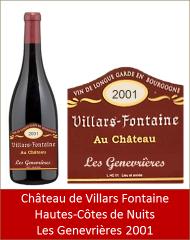 VillarsFontaine - Hautes-Côtes-de-Nuits Les Genevrières 2001 (Petit)