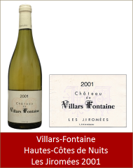 VillarsFontaine - Hautes-Côtes-de-Nuits Les Jiromées 2001 (Petit)