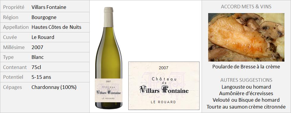 VillarsFontaine - Hautes-Côtes-de-Nuits Le Rouard 2007 (Grand)