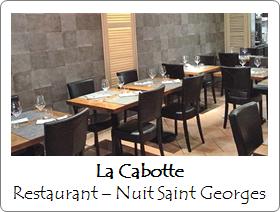 restaurant la cabotte nuit saint georges