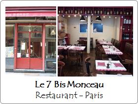 Le 7 Bis Monceau - Restaurant - Paris