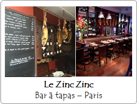 Le Zinc Zinc - Bar à Tapas - Neuilly