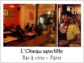 Oiseau sans Tête - Bar à vins - Paris