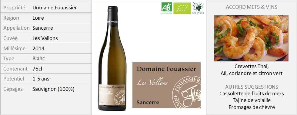 Fouassier Sancerre Les Vallons 2014 (Grand)