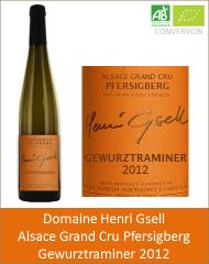 Henri Gsell - Alsace Grand Cru Gewurztraminer Pfersigberg 2012 (Petit)