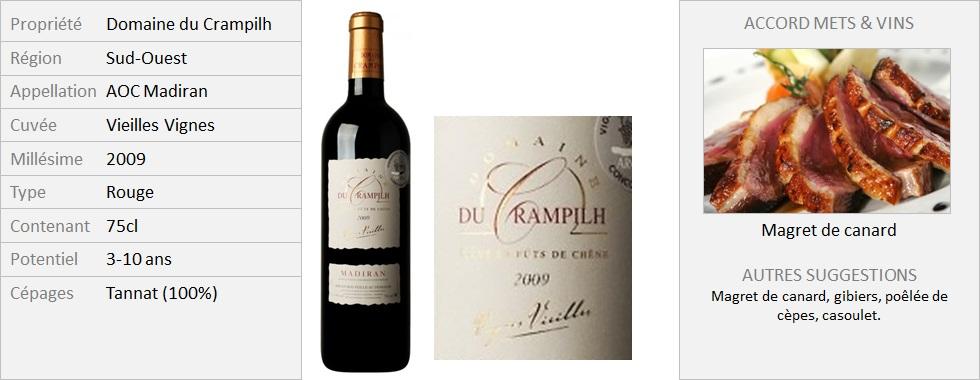 Crampilh - Madiran Vieilles Vignes 2009 (Grand)