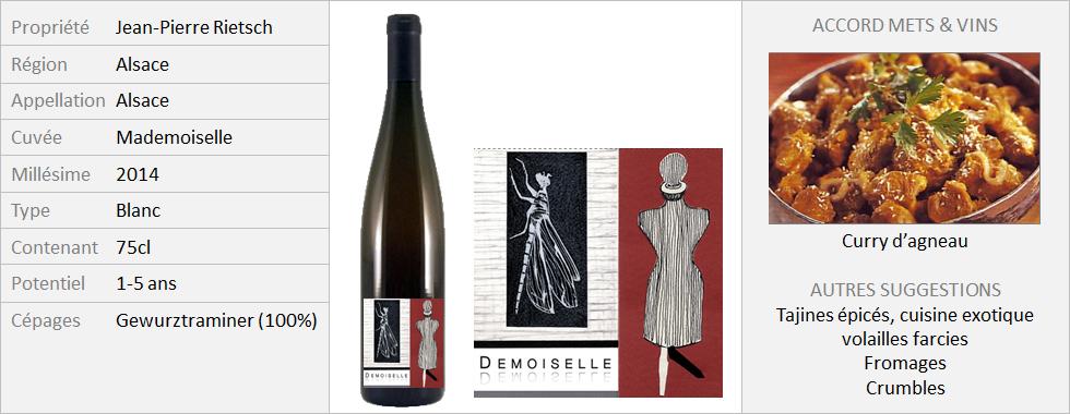 Rietsch - Gewurztraminer Demoiselle 2014 (Grand)