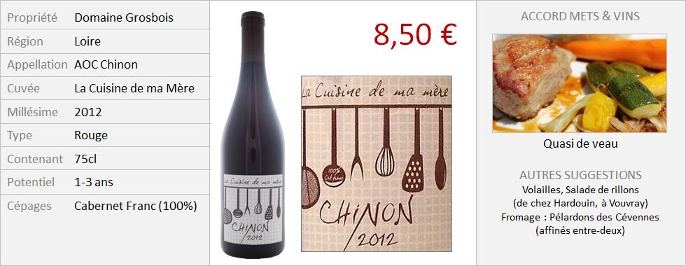 Grosbois - La Cuisine de ma Mere 2012 (Grand)