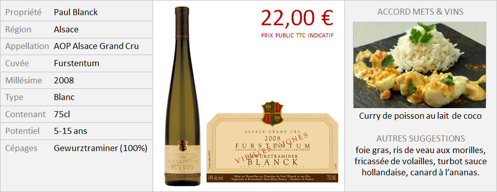 Blanck - Alsace Grand Cru Gewurztraminer Furstentum 2008 (Grand)