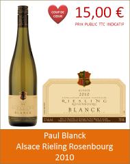 Blanck - Alsace Riesling Rosenbourg 2010 (Petit)