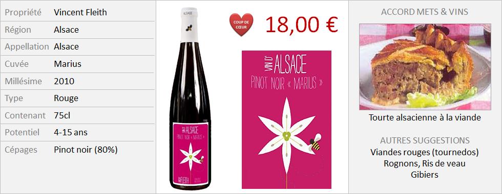 Vincent Fleith - Alsace Pinot Noir Marius 2010 (Grand)