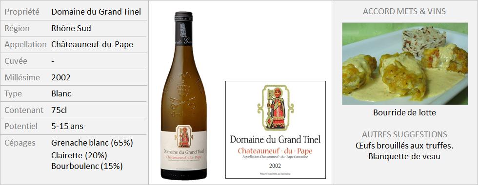 Grand Tinel - CNP Blanc 2002 (Grand)