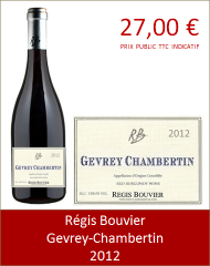 Bouvier - Gevrey-Chambertin 2012 (Petit)
