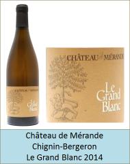 Merande - Chignin Bergeron Le Grand Blanc 2014 (Petit)
