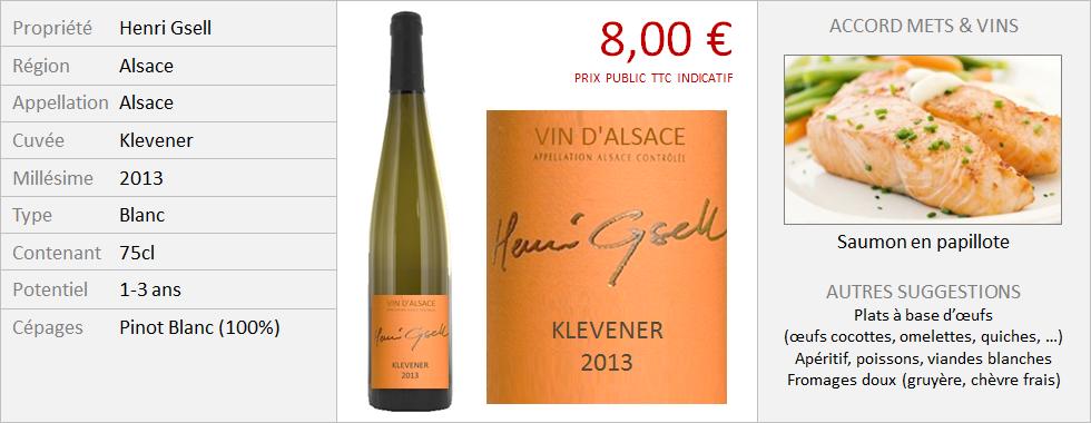 Henri Gsell - Alsace Klevener 2013 (Grand)
