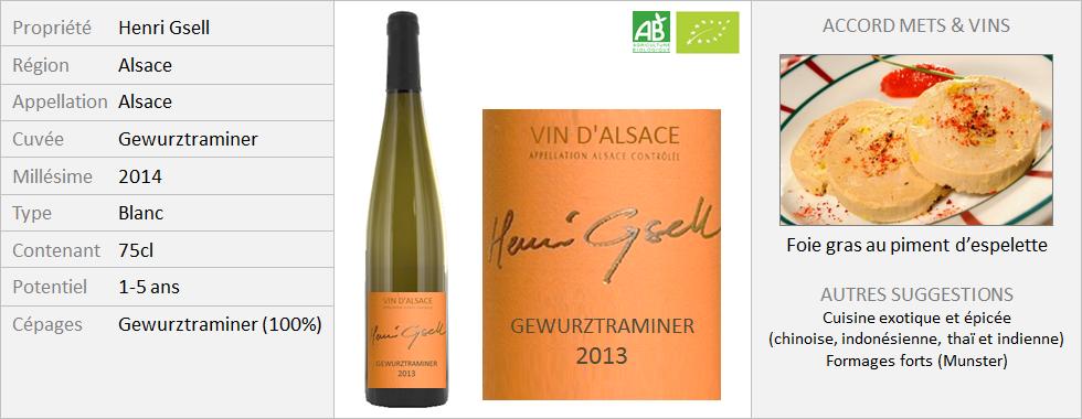Henri Gsell - Alsace Gewurztraminer 2014 (Grand)