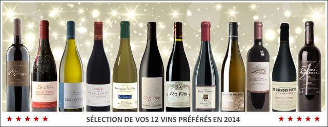 SELECTION DE VOS 12 VINS PREFERES EN 2014