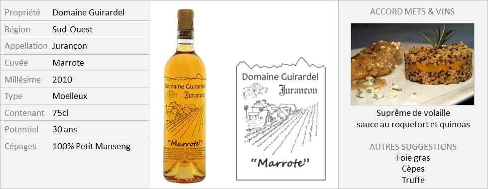Guirardel - Jurançon Marrote 2010 (Grand)