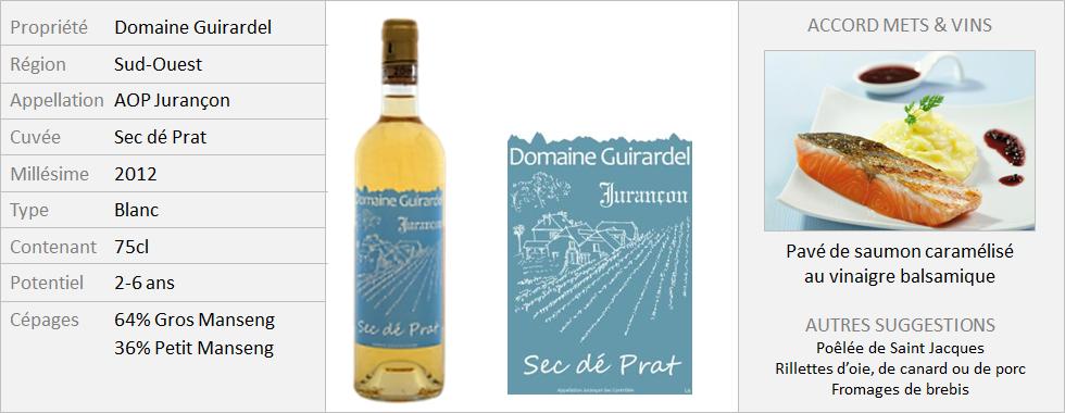 Guirardel - Jurançon Sec Dé Prat 2012 (Grand)