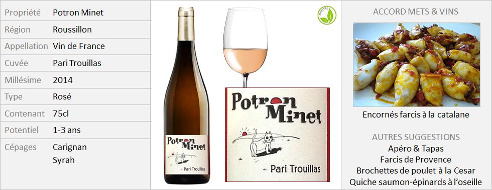 Potron Minet - Pari Trouillas rosé 2014 (Grand)
