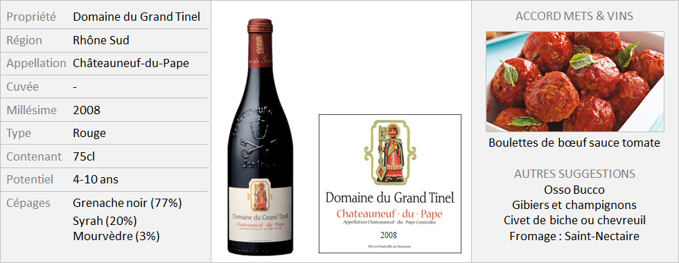 Grand Tinel - CNP Rouge 2008 (Grand)