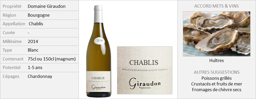 Giraudon - Chablis 2014 (Grand)