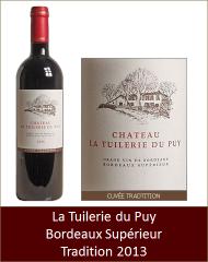 Tuilerie du Puy - Bordeaux Supérieur Tradition 2013 (Petit)