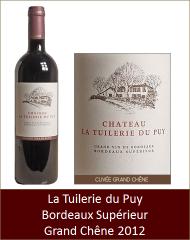 Tuilerie du Puy - Bordeaux Superieur Grand Chêne 2012 (Petit)