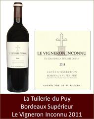 Tuilerie du Puy - Bordeaux Superieur Le Vigneron Inconnu 2011 (Petit)