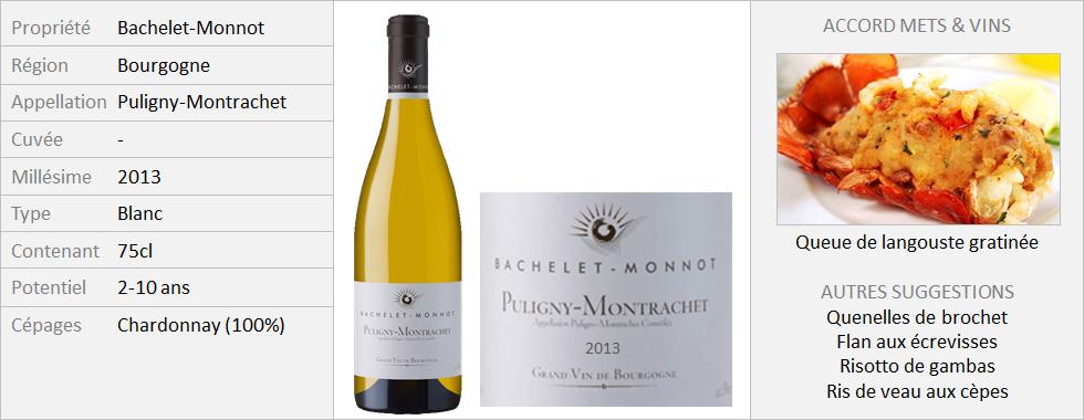Bachelet-Monnot - Puligny Montrachet 2013 (Grand)