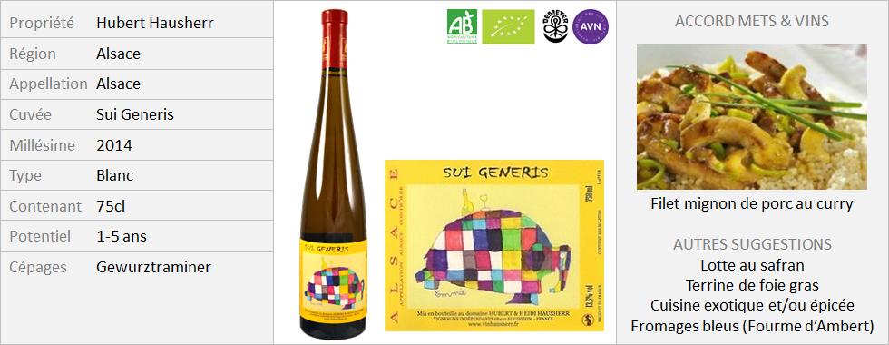 Hubert et Heidi Hausherr - Alsace Sui Generis 2014 (Grand2)