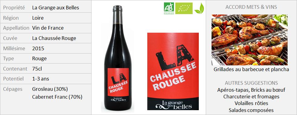 Grange aux Belles - Vin de France La Chaussée Rouge (Grand)