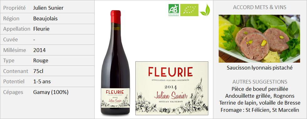 Julien Sunier - Fleurie 2014 (Grand)