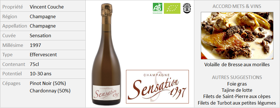 Vincent Couche - Champagne Sensation 1997 (Grand)