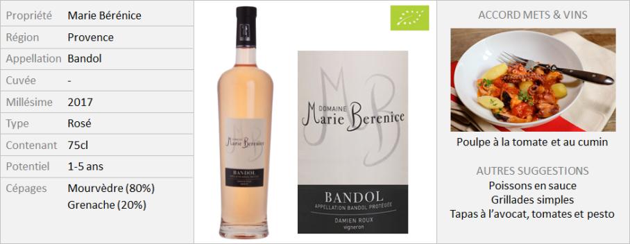Marie Berenice Bandol Rosé