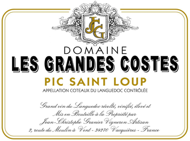 Grandes Costes Pic Saint Loup Grandes Costes