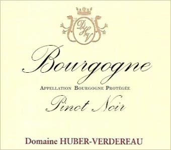 Huber Verdereau Bourgogne PInot Noir