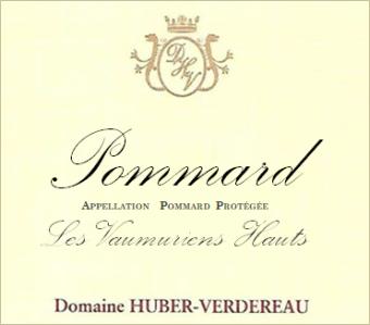 Huber Verdereau Pommard Les Vaumuriens Hauts